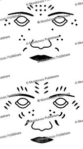 makua tattoo face patterns, mozambique, 1850