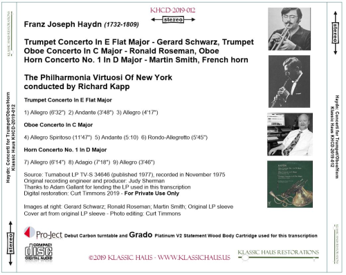 First Additional product image for - Haydn: Concerti for Trumpet/Oboe/French horn
