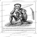 San or Bushmen man playing a gorah (musical bow), Lemaitre, 1848 | Photos and Images | Travel