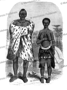 Bayeye (WaYeyi) man and woman,Namibia, Charles John Andersson, 1857 | Photos and Images | Travel