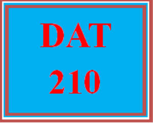 DAT 210 All Discussions | eBooks | Education