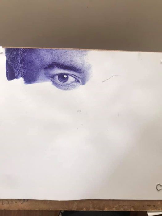 Second Additional product image for - painting drawing the eyes of a strong man