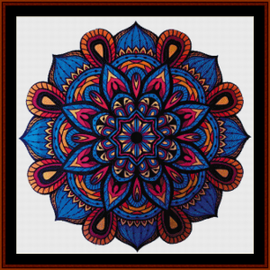 mandala 25 cross stitch pattern by cross stitch collectibles