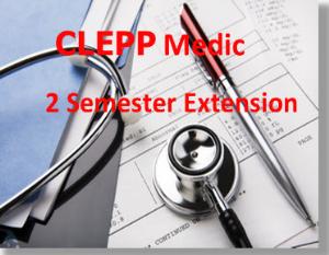 clepp  paramedic 2 semester extensioin