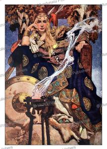 the celtic queen maeve or medb of ireland, j.c. leyendecker, 1917