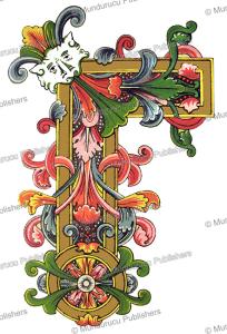 celtic border from the benedictional of aethelgar, owen jones, 1868