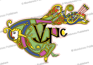 celtic initials tunc from the book of kells, after f.h. robinson, 1908