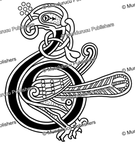 celtic initial b from the book of kells, george bain, 1951