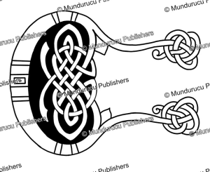 celtic initial c from the book of kells, after george bain, 1951