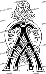 celtic initial ai from the book of kells, after george bain, 1951