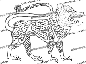 celtic lion from the book of durrow, 6h century after a.a. luce, 1960