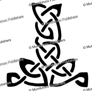 celtic interlace design from the lindisfarne gospels, after t. d. kendrick, 1960