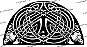 celtic interlaced snakes from the book of kells, george bain, 1951