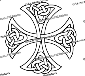 celtic cross from the book of durrow, after t. d. kendrick, 1960