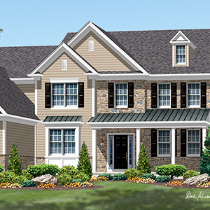 house plan - meadowbrook country manor cad