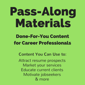 jobseeker's guide to your first resume pass-along materials