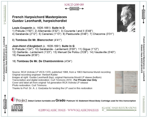 First Additional product image for - French Harpsichord Masterpieces - Gustav Leonhardt, harpsichordist