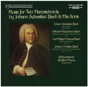 Music for Two Harpsichords - JS Bach & Sons -Rolf Junghans & Bradford Tracey, harpsichordists | Music | Classical