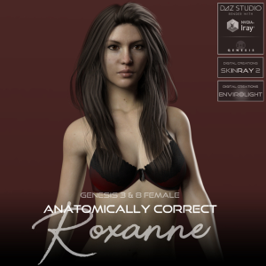 anatomically correct: roxanne for genesis 3 and genesis 8 female