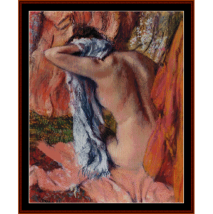 after the bath vi - degas cross stitch pattern by cross stitch collectibles