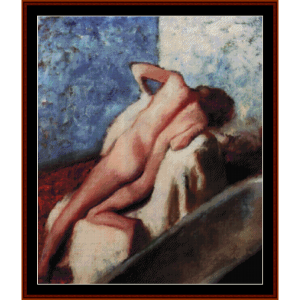 after the bath 1886 - degas cross stitch pattern by cross stitch collectibles