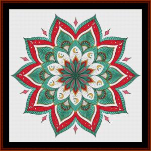 mandal 26 cross stitch pattern by cross stitch collectibles