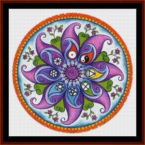 mandal 28 cross stitch pattern by cross stitch collectibles