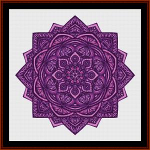 mandal 30 cross stitch pattern by cross stitch collectibles