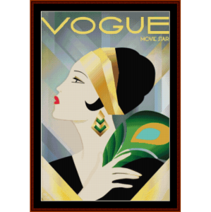 vogue movie star - vintage art cross stitch pattern
