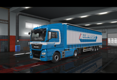 First Additional product image for - Man Euro6 Mainfreight  2019 skin ETS2