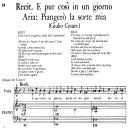"""Piangerò la sorte mia, Aria for Low Voice in C Major  (Transposition for Low Voice), with Recitative """"E pur cosi un giorno..."""",G. Cesare in Egitto, HWV 17, G.F.Händel, Vocal Score, Ed. Imc. 4pp A4   eBooks   Sheet Music"""