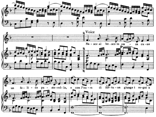 First Additional product image for - Nasce al bosco, Aria for Contralto in F Major (Original Key), Ezio HWV 29, G. F. Händel, Vocal Score, Ed. Imc. 4pp A4