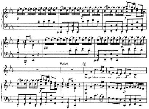 First Additional product image for - Sorge infausta una procella, Aria for Contralto in C minor (Original Key), Low Voice. Orlando HWV 31, G. F. Händel, Vocal Score, Ed. Imc. 2pp