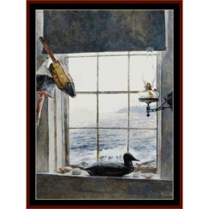 windows to the sea - americana cross stitch pattern by cross stitch collectibles
