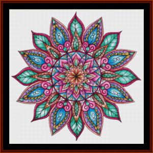 mandala 31 cross stitch pattern by cross stitch collectibles