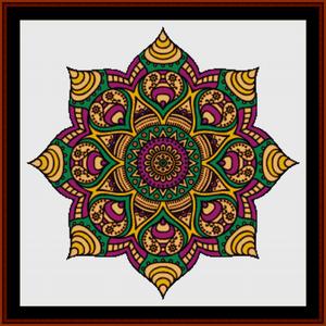 mandala 32 cross stitch pattern by cross stitch collectibles