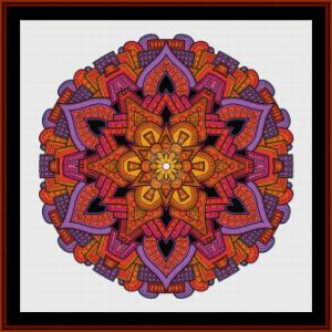 mandala 33 cross stitch pattern by cross stitch collectibles