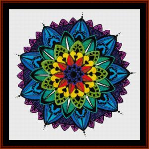 mandala 34 cross stitch pattern by cross stitch collectibles