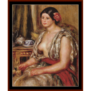 woman in oriental costume - renoir cross stitch pattern by cross stitch collectibles