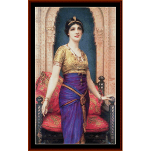 an egyptian beauty - w.c. wontner cross stitch pattern by cross stitch collectibles