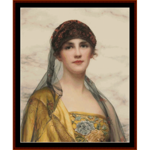 portrait of a beauty - w.c. wontner cross stitch pattern by cross stitch collectibles