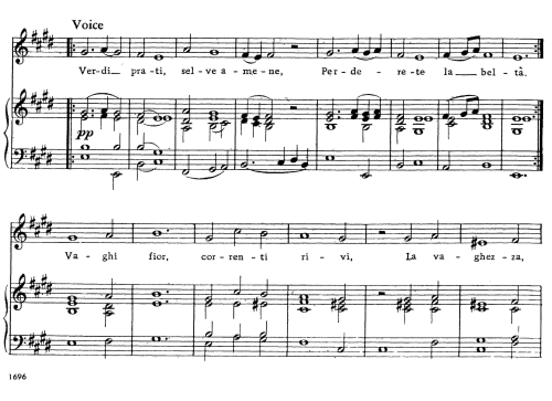 First Additional product image for - Verdi prati, Aria for Mezzo or Contralto in E Major (Original Key), Low Voice. Alcina HWV 34, G. F. Händel, Vocal Score, Ed. Imc. 3pp A4