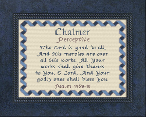 name blessings - chalmer