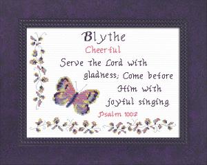 name blessings - blythe