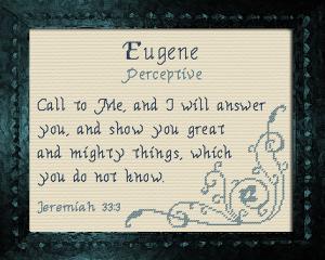 name blessings - eugene