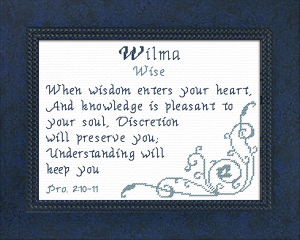 name blessings - wilma