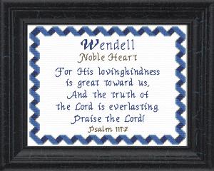 name blessings - wendell