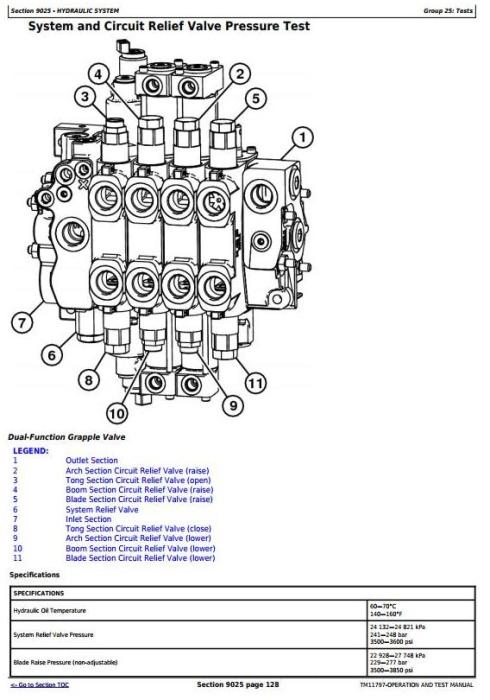Second Additional product image for - John Deere 748H (SN.630436-) Grapple Skidder Diagnostic, Operation & Test Service Manual (TM11797)