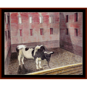 fresian bull - ravilious cross stitch pattern by cross stitch collectibles