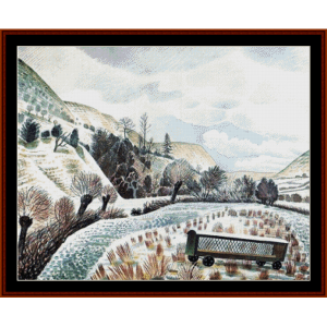 new year's snow - ravilious cross stitch pattern by cross stitch collectibles